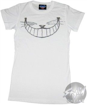 Alice in Wonderland Cheshire Smile Baby Doll Tee by JUNK FOOD