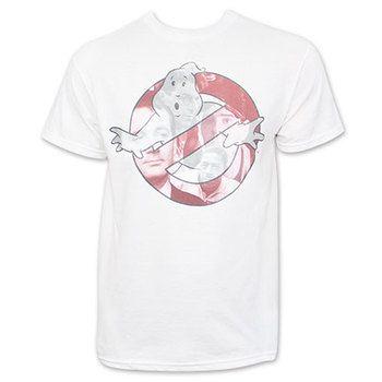 Ghostbusters Logo Men's White T-Shirt