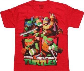 Teenage Mutant Ninja Turtles Action Grid Youth T-Shirt