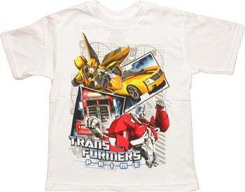 Transformers Prime Autobot Duo Stack Bumblebee Optimus Prime Juvenile T-Shirt