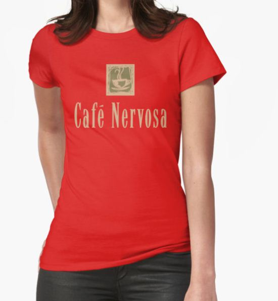 Cafe Nervosa sign – Frasier, Seattle T-Shirt by fandemonium T-Shirt