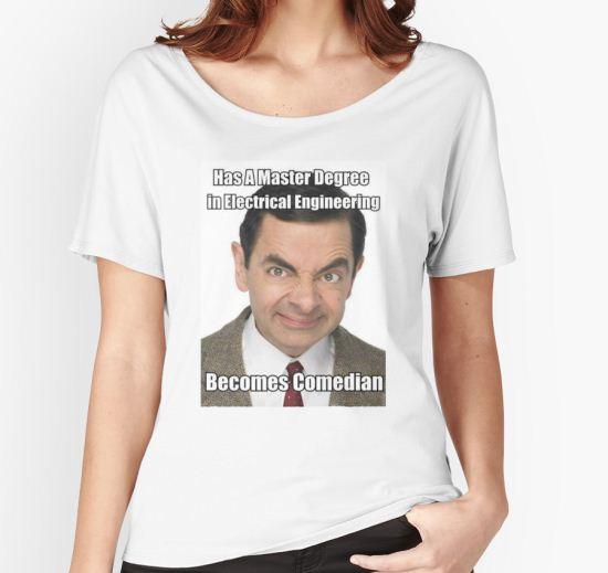 Mr Bean Women's Relaxed Fit T-Shirt by shirtifundi T-Shirt