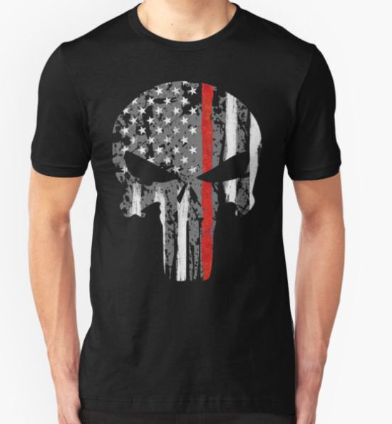 Punisher - Red Line T-Shirt by zingarostudios T-Shirt