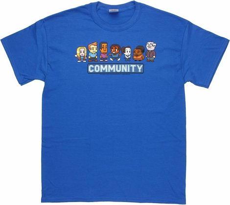 Community 8 Bit Cast T Shirt