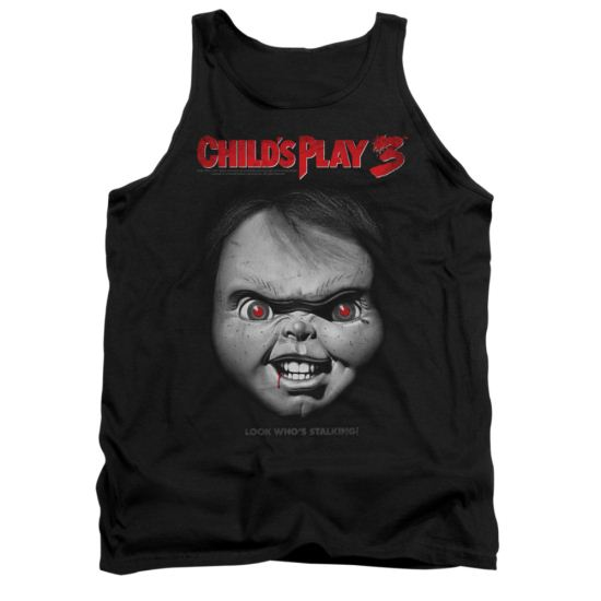 Child's Play 3 Tank Top Face Poster Black Tanktop