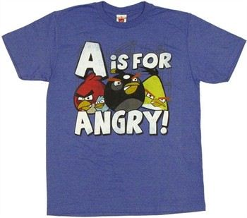Angry Birds A is for Angry T-Shirt Sheer