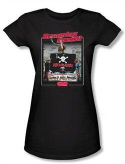 Animal House Juniors T-shirt Movie Ramming Speed Black Tee Shirt