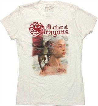 Game of Thrones Daenerys Targaryen Mother of Dragons Photo Baby Doll Tee