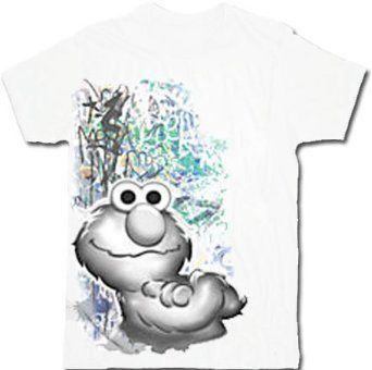 Sesame Street Elmo Graffiti Adult White T-Shirt