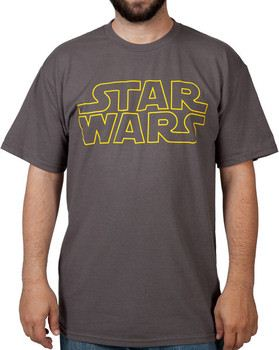 Charcoal Star Wars Logo Shirt