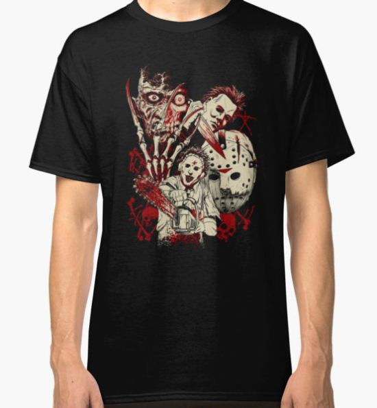 classic horror guys Classic T-Shirt by AndreyRamzy T-Shirt