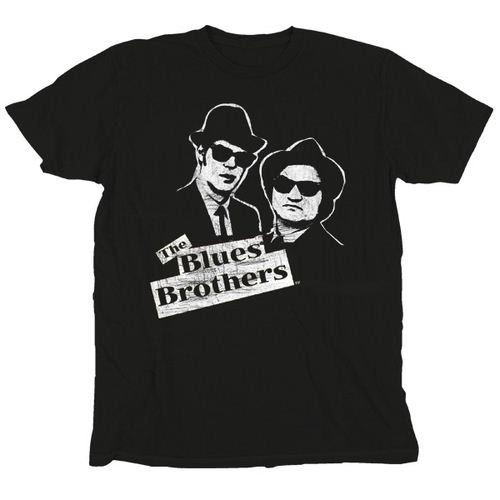 Blues Brothers Black and White Jake & Elwood T-Shirt