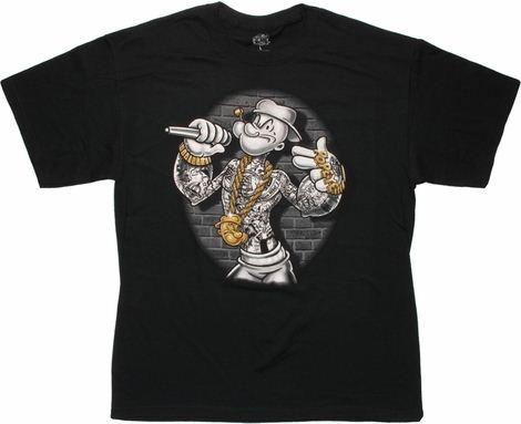 Popeye Mic Bling T Shirt