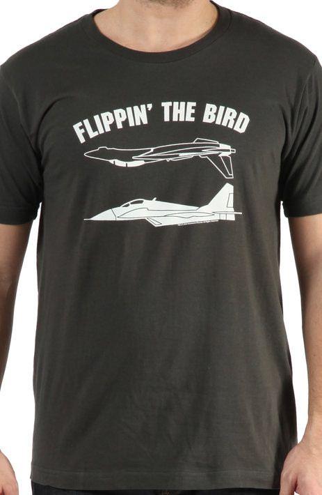 Top Gun Flippin The Bird Shirt