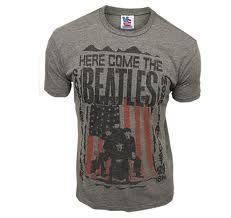 Junk Food The Beatles Here Comes The Beatles Steel Gray Mens T-shirt
