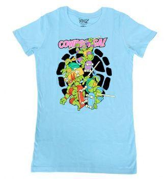 TMNT Teenage Mutant Ninja Turtles Skateboard Cowabunga Juniors T-Shirt