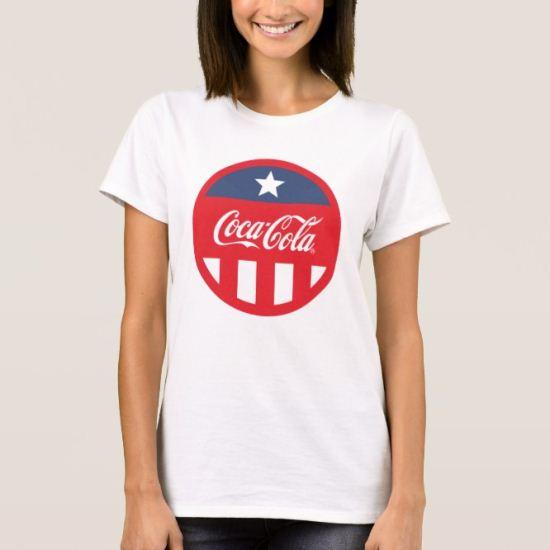 Coca-Cola Logo One Star & Stripes T-Shirt