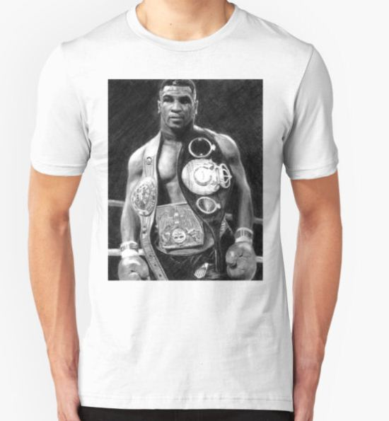 Mike Tyson Pencil Drawing T-Shirt by daverives T-Shirt