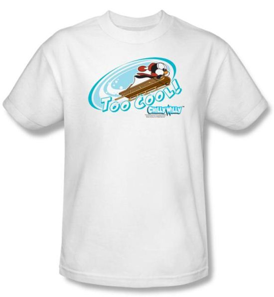 Chilly Willy T-shirt TV Show Too Cool Adult White Tee Shirt