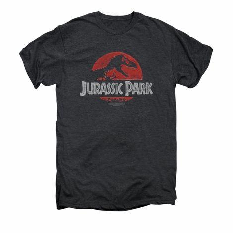 Jurassic Park Faded Logo Premium T Shirt