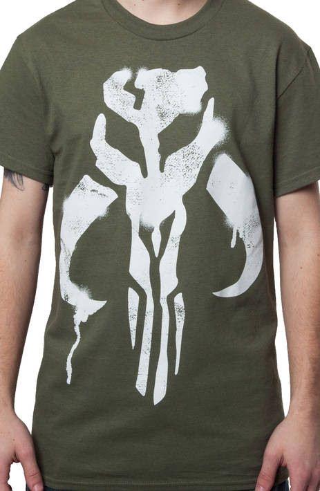Green Mandalorian Symbol Shirt