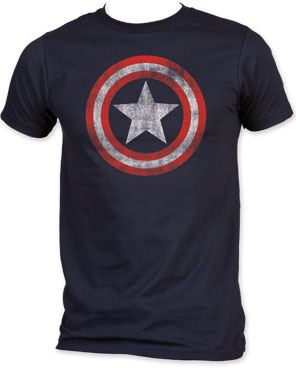 Captain America Star Distressed Logo T-shirt