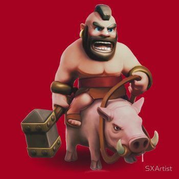 Hog Rider Clash of Clans Art