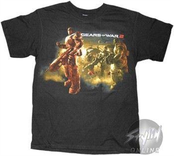 Gears Of War 2 Facing Left Scene T-Shirt