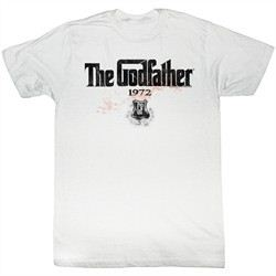 The Godfather Shirt 1972 Adult White Tee T-Shirt