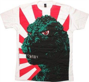 Godzilla Close Up Face Sun T-Shirt Sheer
