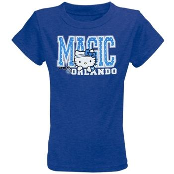 Orlando Magic Youth Girls Hello Kitty T-Shirt - Royal Blue
