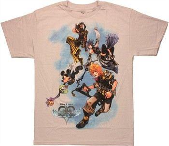 Disney Kingdom Hearts Birth by Sleep Flying Gray T Shirt