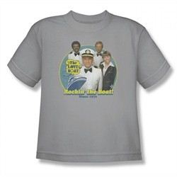 The Love Boat Shirt Rocking The Boat Youth Silver T-Shirt
