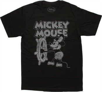 8334e37bc ... Disney Mickey Mouse Steamboat Willie T-Shirt Sheer. ""