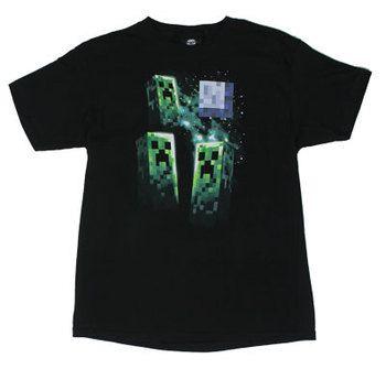 Three Creeper Moon - Minecraft Youth T-shirt
