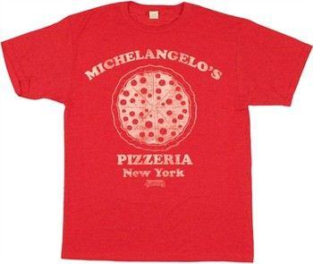 TMNT Teenage Mutant Ninja Turtles Michelangelo's Pizzeria New York T-Shirt Sheer