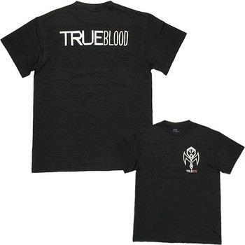 True Blood Vampire Authority Pocket Logo Double Sided T-Shirt