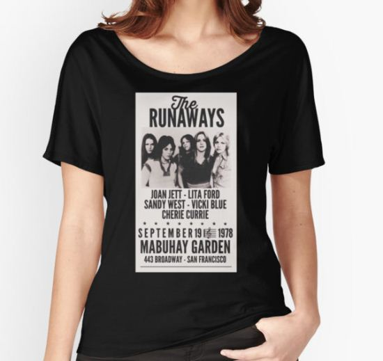 The Runaways Vintage Poster Women's Relaxed Fit T-Shirt by annabarrell T-Shirt
