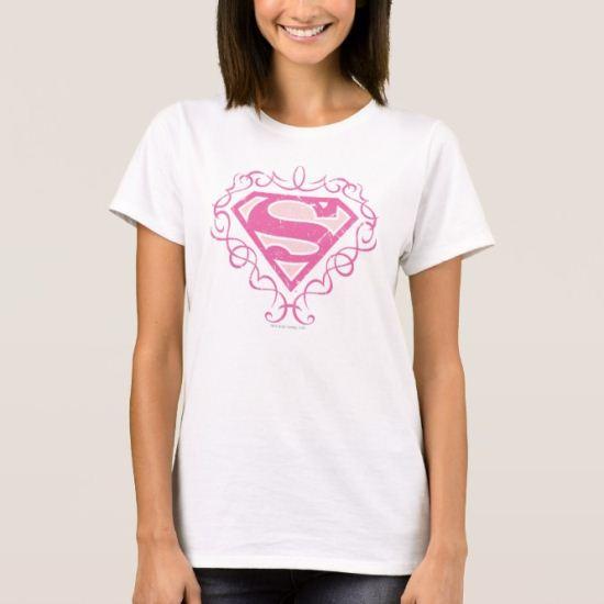 Supergirl Pink Stripes T-Shirt