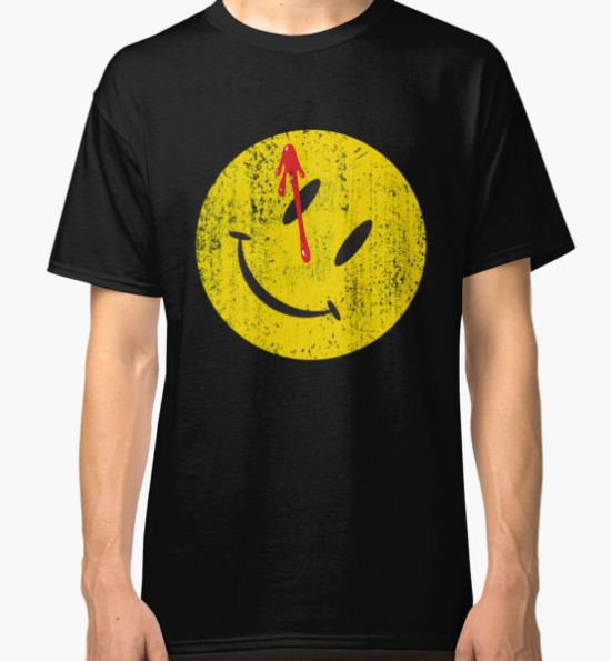 Watchmen Smiley Classic T-Shirt by artboy213 T-Shirt
