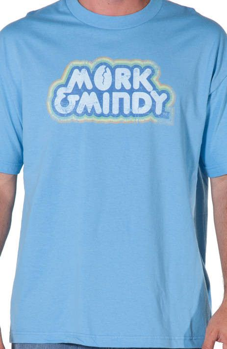 Mork and Mindy Distressed Logo Shirt