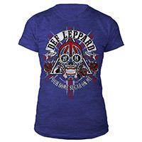 Def Leppard Ladies Skull Tour Tee