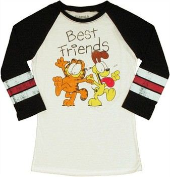 Shirt Garfield Odie Tree Adult Ringer T