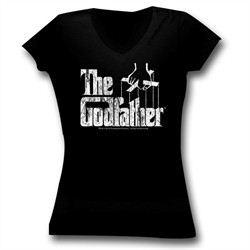 The Godfather Juniors Shirt Movie Logo Black Tee T-Shirt