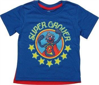 Sesame Street Super Grover Stars Caped Toddler T-Shirt