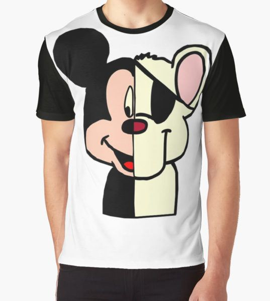 DANGER : DIFFERENT MOUSE, THE SAME RISK. Graphic T-Shirt by Lesleeholder T-Shirt