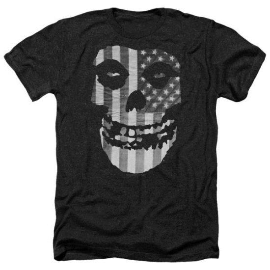 Misfits Shirt Fiend Flag Heather Black T-Shirt