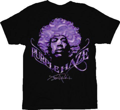 Jimi Hendrix Purple Haze Face Black T-shirt